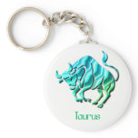 Taurus Sign Keychain